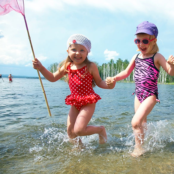 There is a child-friendly beach near the Imatra Spa